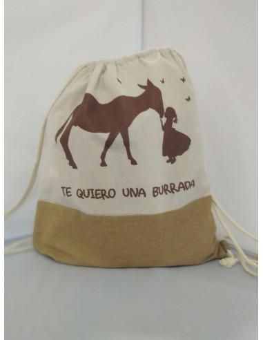 Ecologic  Bag with Te Quiero Una Burrada