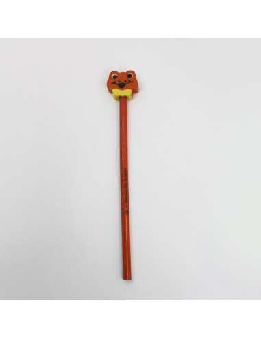 Pencil with rubber (orange tiger)