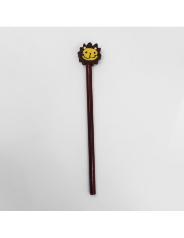 Pencil with rubber (brown lion)